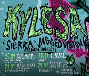 27th January 2014 - KYLESA + JAGGED VISION + SIERRA + REGARDE LES HOMMES TOMBER - Paris - La Maroquinerie - Post-Metal