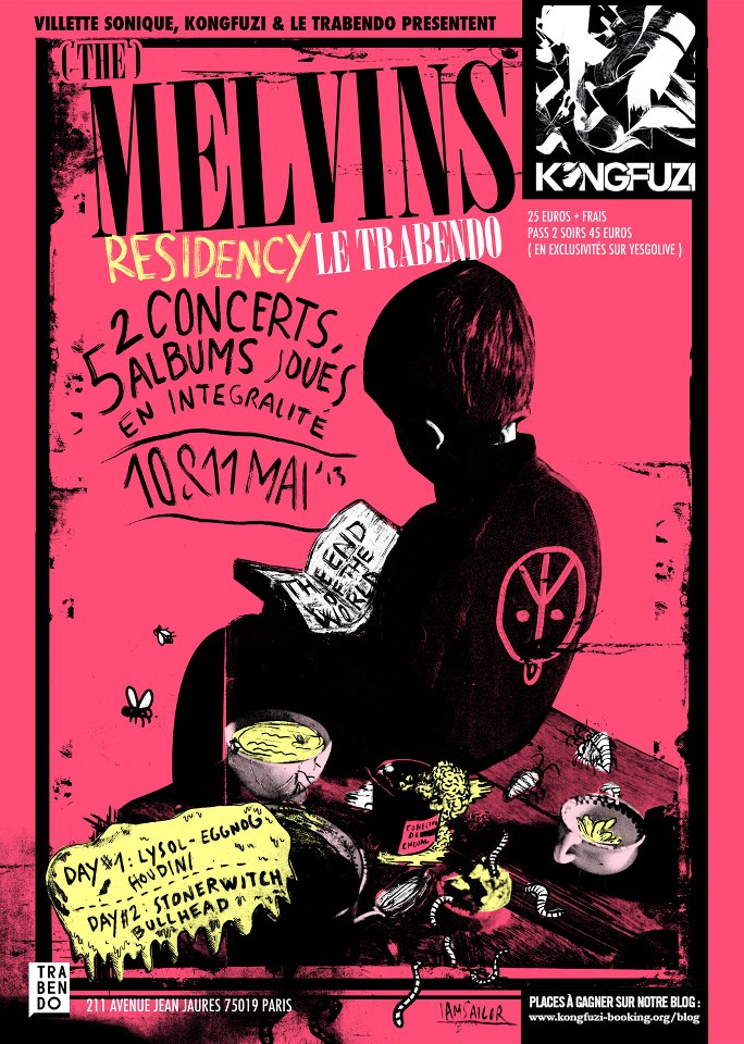 THE MELVINS - Paris - Le Trabendo - Villette Sonique - 10 Mai 2013