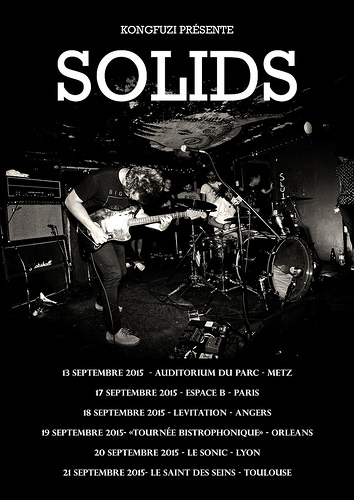 17th September 2015 - SOLIDS + GHOST FRIENDS - Paris - Espace B - Rock